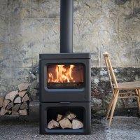 Sky log stand stove