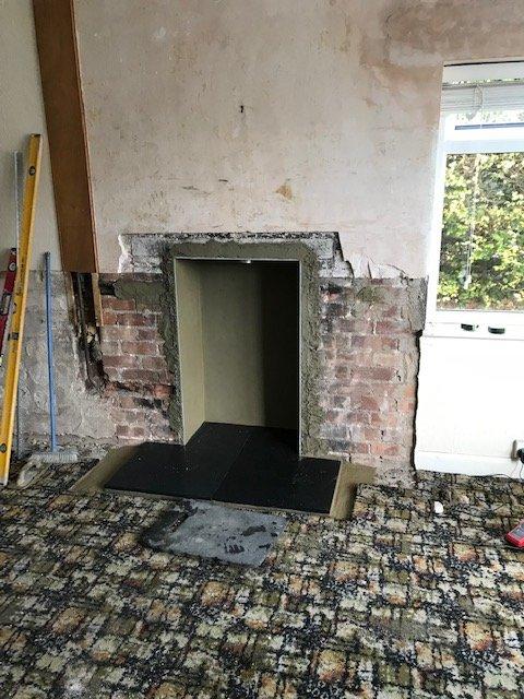 new fireplace prepared