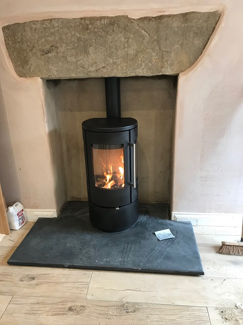 Two stunning contemporary stove installations completed on 23/11/18